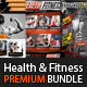 Health, Sports, Fitness Flyer Bundle  - GraphicRiver Item for Sale