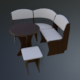 Dining Area corner Sofa04