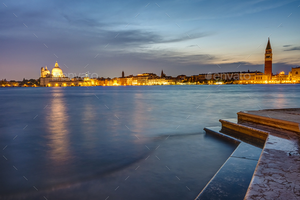 View to St Marks square and Punta della Dogana - Stock Photo - Images