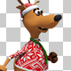 Christmas Santa Deer - Walk Cycle (6-Pack) - VideoHive Item for Sale