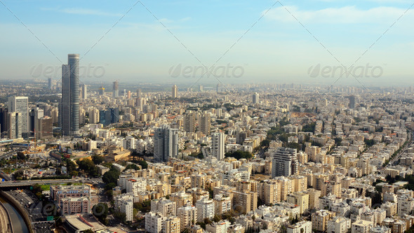 Tel Aviv Cityscape - Stock Photo - Images