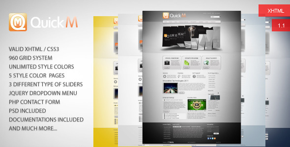 QuickM HTML Template