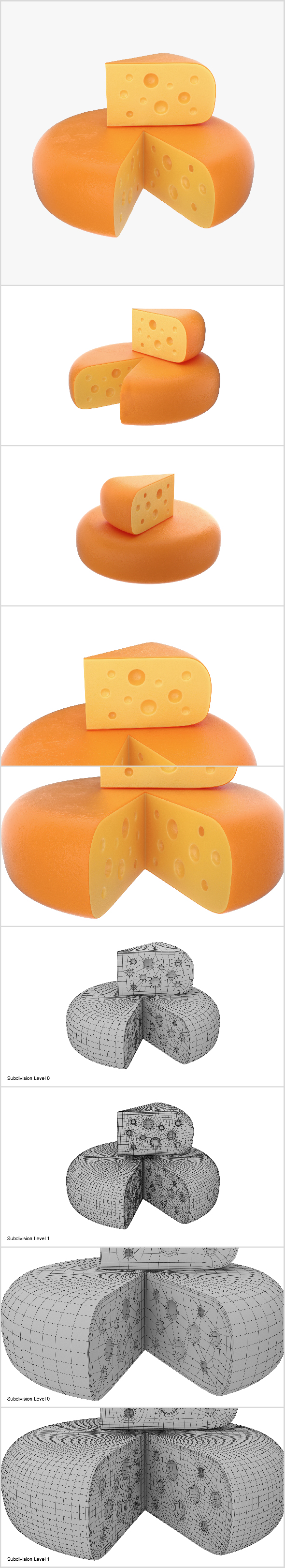 Cheese wheel and piece