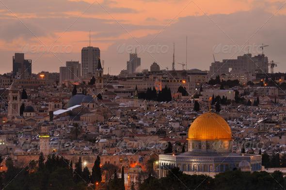 Jerusalem Skyline - Stock Photo - Images