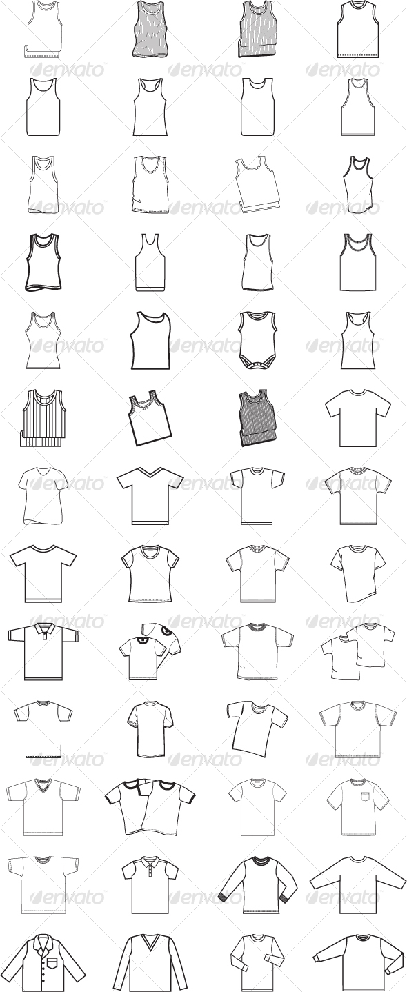 A-shirt & T-shirt collection - Organic Objects Objects