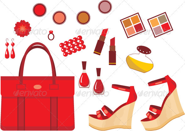 Set of red accessories - Commercial / Shopping Conceptual