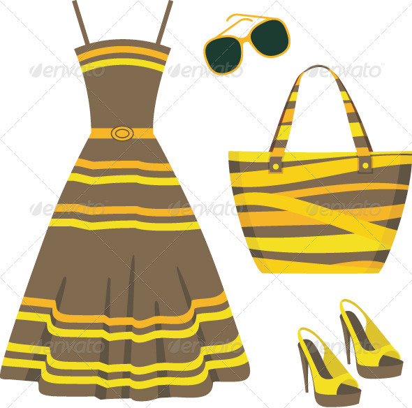 Summer set of clothes - Commercial / Shopping Conceptual