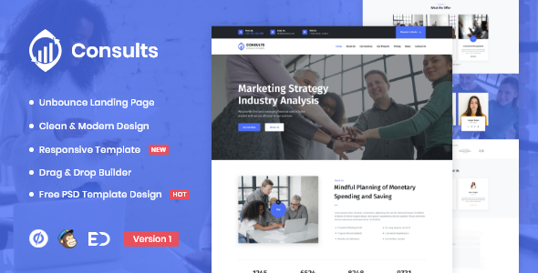 Consults - Consulting and Finance Unbounce Landing Page Template