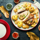 Slices of baked pork loin - PhotoDune Item for Sale