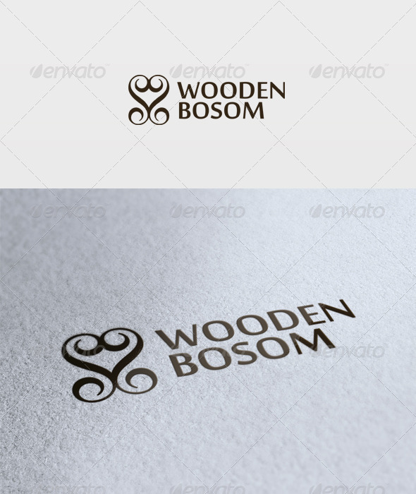 Wooden Bosom Logo - Vector Abstract