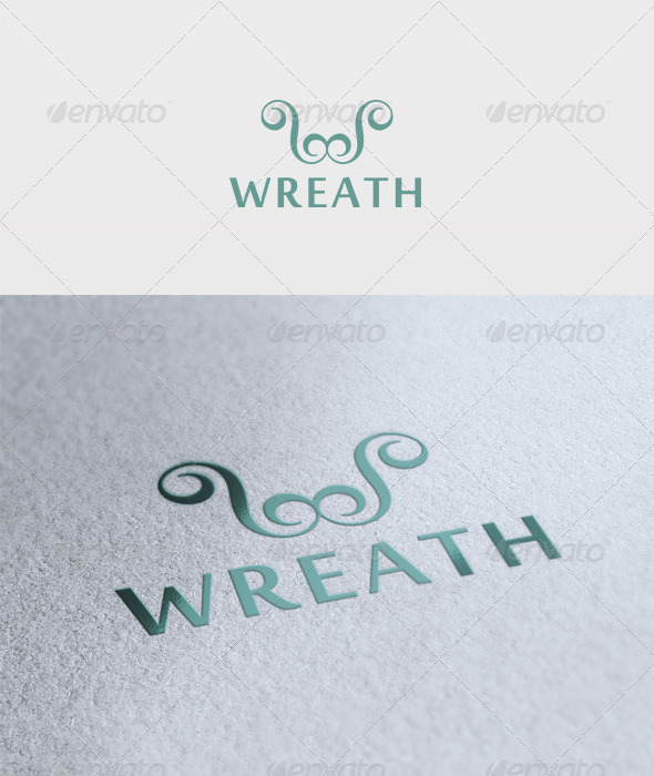 Wreath Logo - Letters Logo Templates