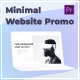 Minimal Website Promo - Laptop Mockup - VideoHive Item for Sale