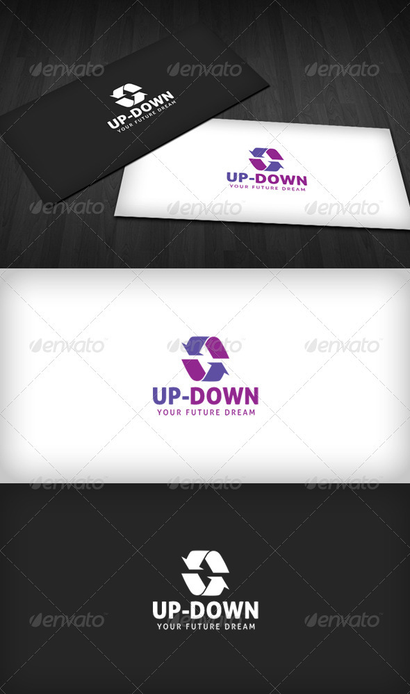 Up-Down Logo - Vector Abstract