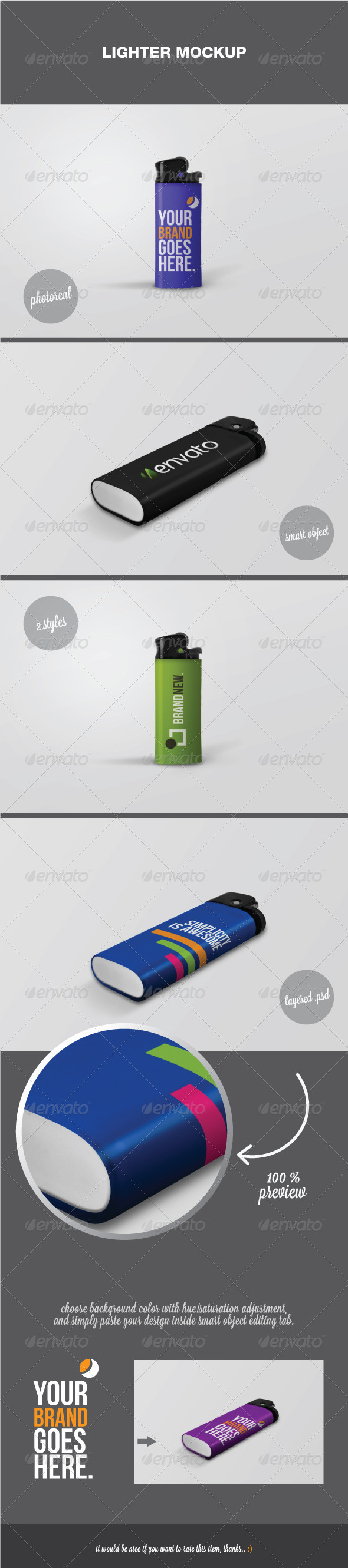 Lighter Mockup - Miscellaneous Product Mock-Ups