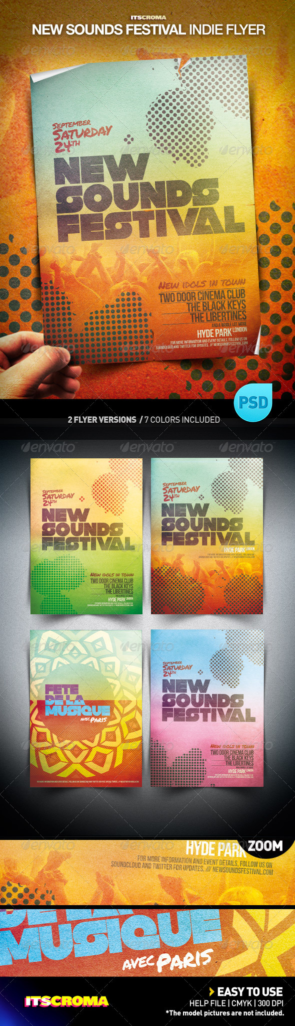 Indie Flyer Poster - New Sounds Festival - Concerts Events
