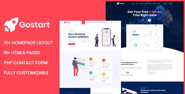 Wonderful Gostart - Startup Landing Page