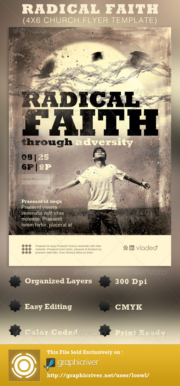 Radical Faith Church Flyer Template - Church Flyers