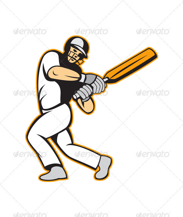 Cricket Player Batsman Batting  - Sports/Activity Conceptual
