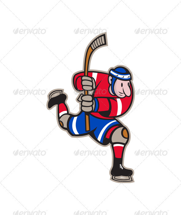 Ice Hockey Player Striking Stick  - Sports/Activity Conceptual