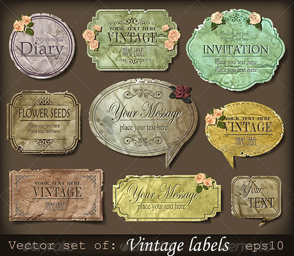 Vintage retro labels  - Retro Technology