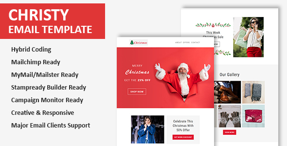 Christy - Christmas Email Newsletter Template