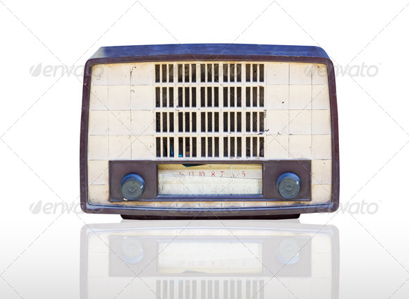 Vintage radio isolated - Stock Photo - Images