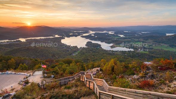 Hiawassee, Georgia, USA in Early Autumn - Stock Photo - Images