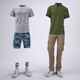 Cargo Shorts and Cargo Pants Mock-Up