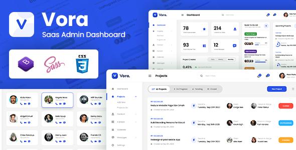 Vora - Saas Admin Dashboard Bootstrap HTML Template