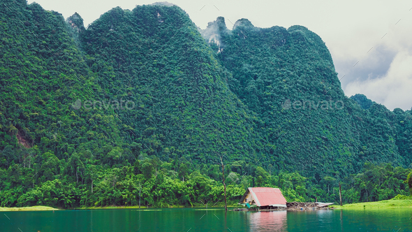 Cheo Lan Lake in Thailand - Stock Photo - Images