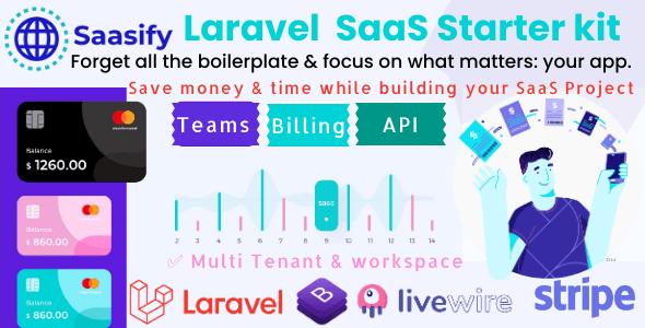 Saasify, advance Laravel SaaS Starter kit