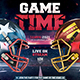 American Football Flyer v14 Football Match Template