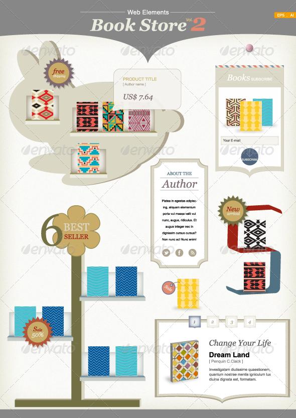 Web Elements : Book Store Vol.2 - Web Elements Vectors