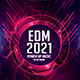 EDM 2021 Power Up Music Fest Photoshop Flyer Template