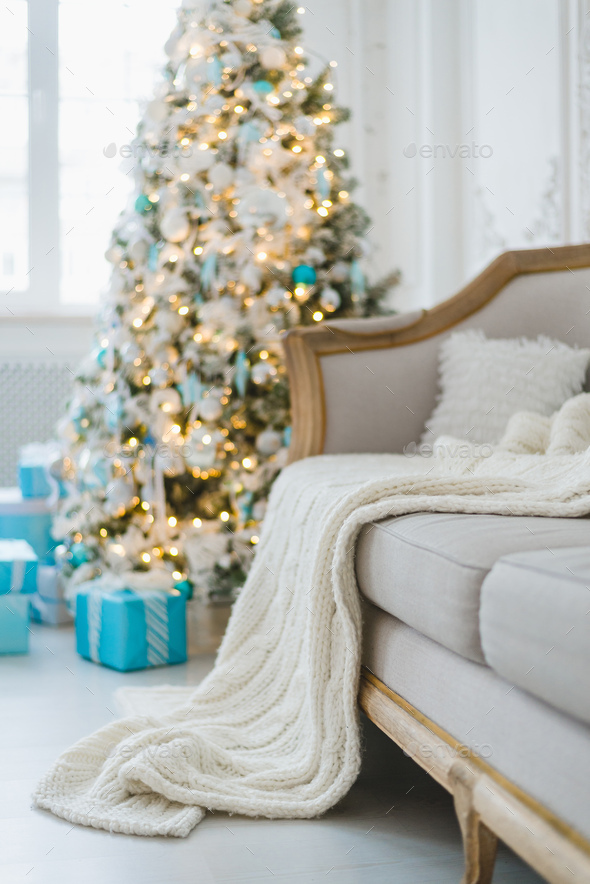 Christmas or new year decoration at Living room interior and holiday home decor concept. Calm image