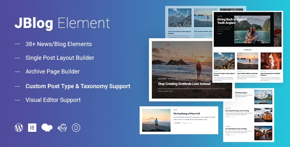 JBlog Elements - Magazine & Blog Add Ons for Elementor & WPBakery Page Builder