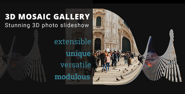 3D Mosaic Gallery - Advanced Media Gallery