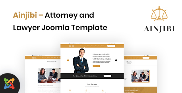 Ainjibi – Attorney and Lawyer Joomla Template