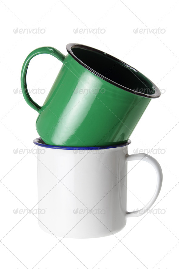 Tin Cups - Stock Photo - Images