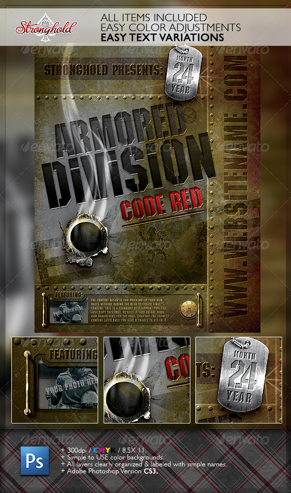 Vintage Military Armored Flyer Template - Events Flyers