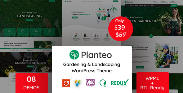 Planteo - Gardening and Landscaping WordPress Theme