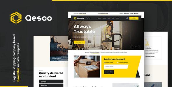 Qesco | Logistic Shipping Company Joomla Template