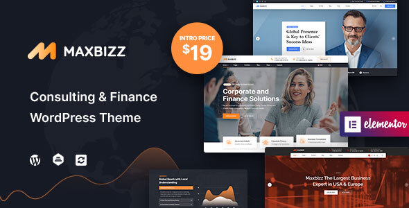 Download Maxbizz – Consulting & Financial Elementor Free Nulled