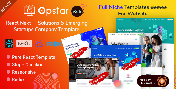 Opstar | React Next Multi-Niche IT Startups