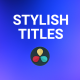 Stylish Title - VideoHive Item for Sale