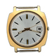 Gold watch without Arabic numerals on the dial. Isolated over white background. - PhotoDune Item for Sale
