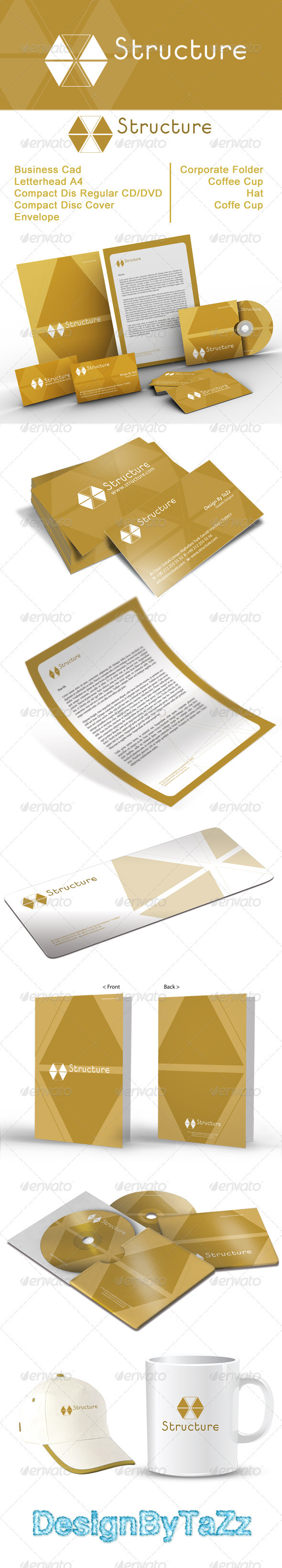 Structure Corporate Identity Package - Stationery Print Templates