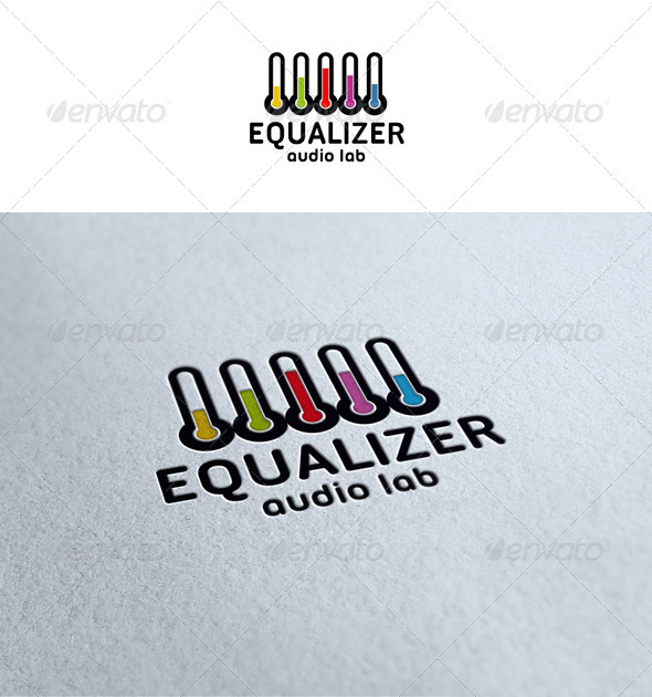 Equalizer - Audio Lab Logo - Objects Logo Templates