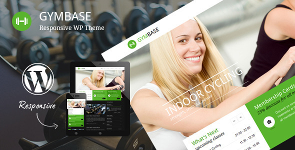 GymBase – Responsive Gym Fitness WordPress Theme