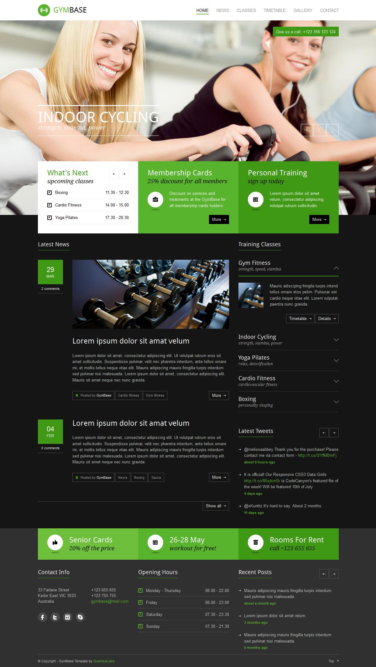 Nice GymBase   Responsive Gym Fitness WordPress Theme